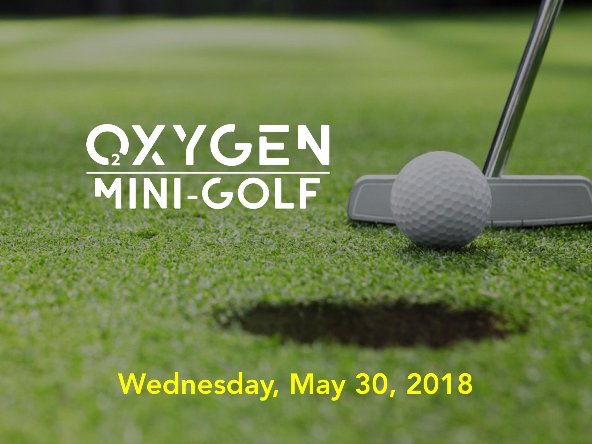 Oxygen Mini Golf Night logo