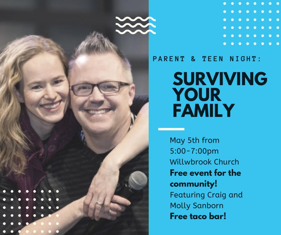 Surviving Your Family! (Parent-Teen night) logo
