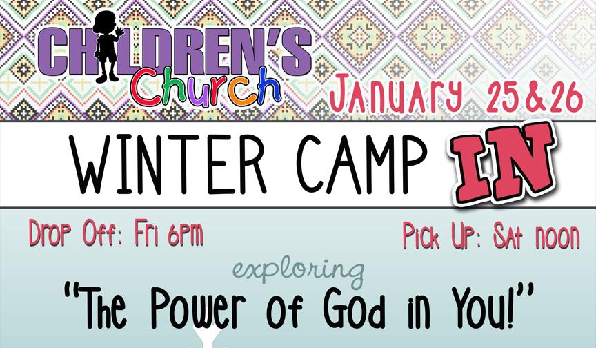 Winter Camp Sleep Over logo