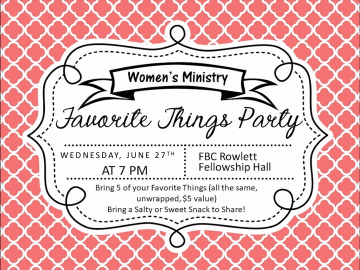Women's Event - 5 Favorite Things logo