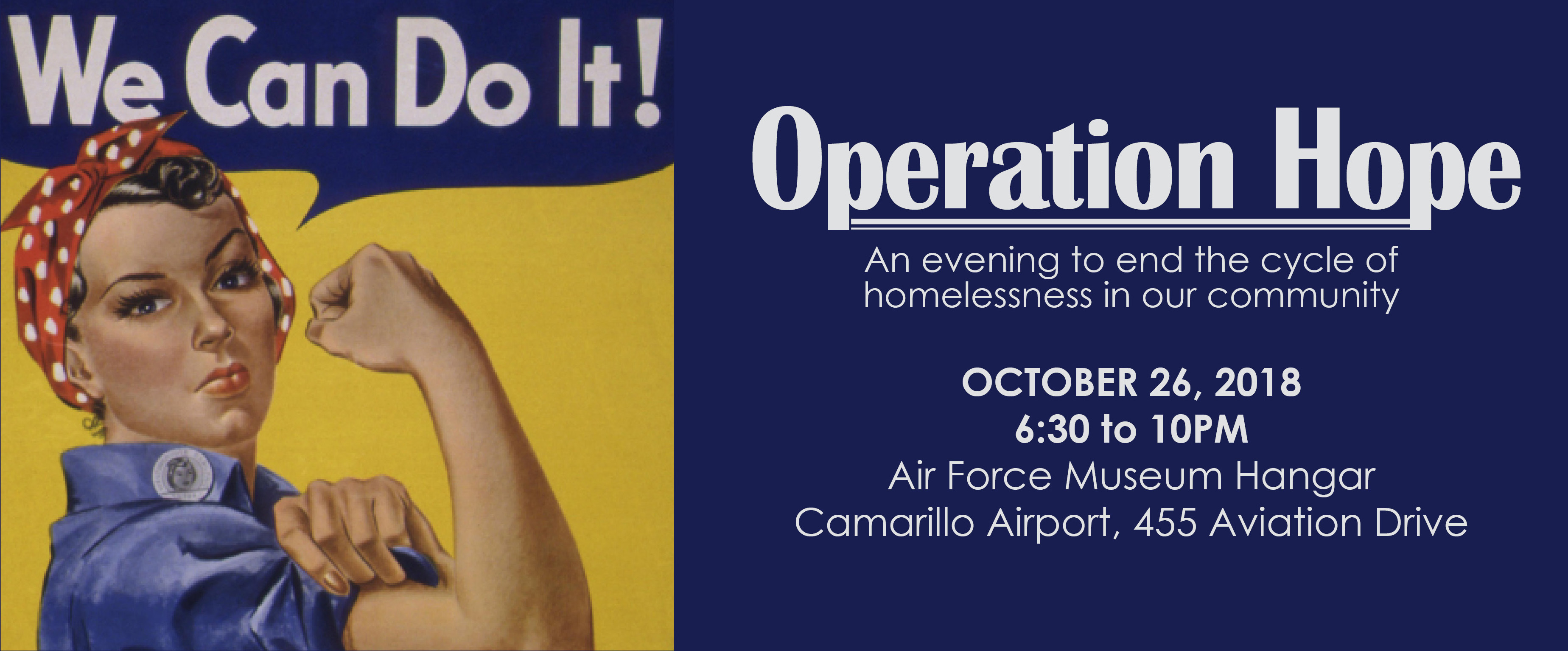 Operation Hope is SOLD OUT! Please call (805) 451-3579 to be put on the waiting list. logo