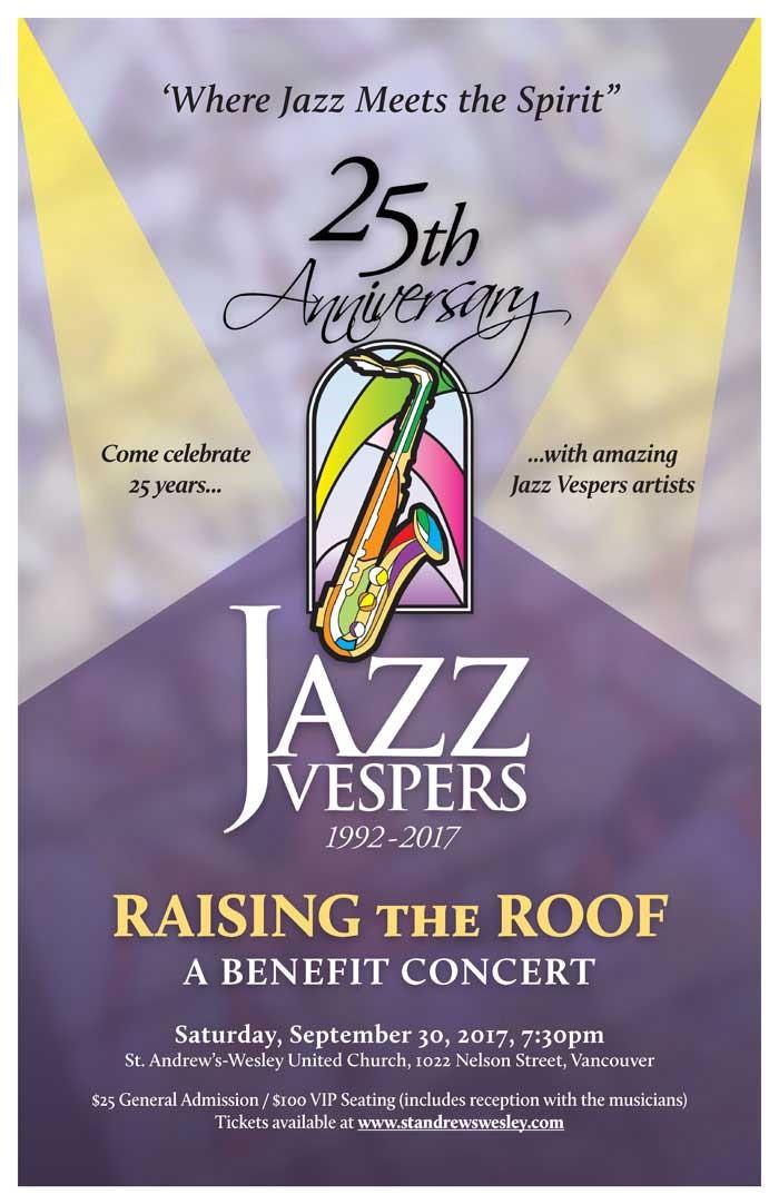 Jazz Vespers 25th Anniversary Benefit Concert- Raise the Roof logo