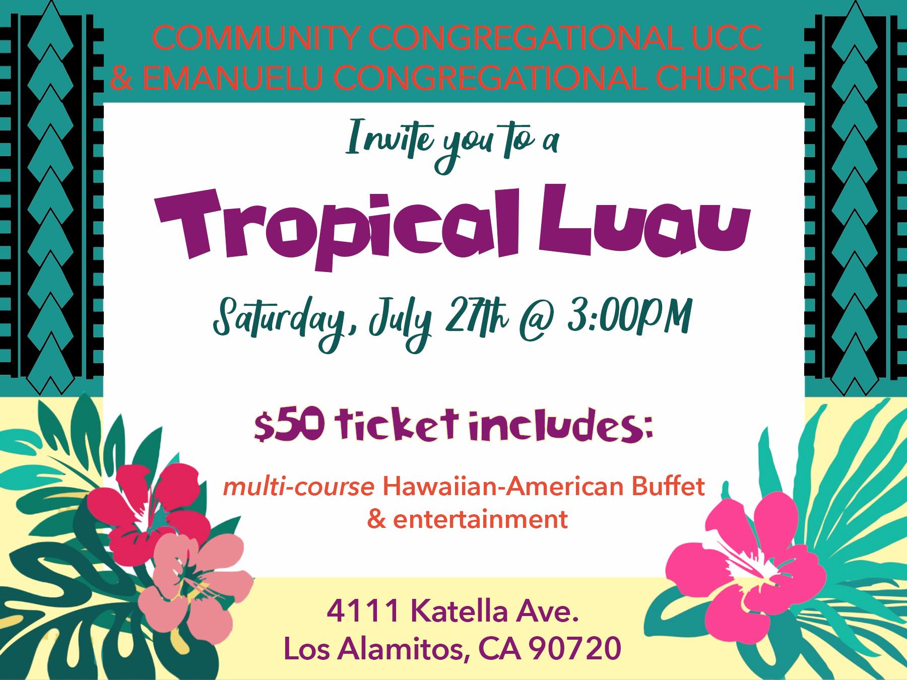 Tropical Luau Fundraiser logo