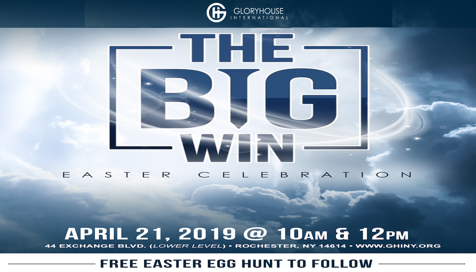 The Big Win Easter Celebration and FREE Egg Hunt logo
