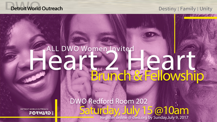 Heart2Heart Saturday, July 15, 2017 @ 10:00am logo
