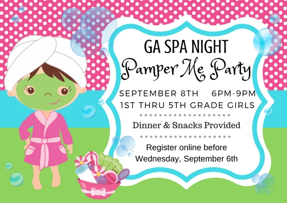 GA Spa Night: Pamper Me Party logo