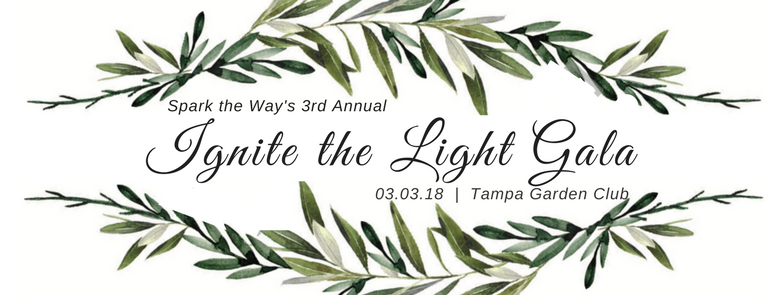 Spark the Way's 3rd Annual Ignite the Light Gala logo